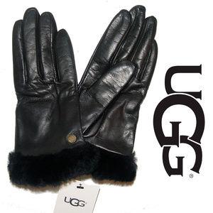Ugg Shorty Glove Fashion Shearling Cuff Leather